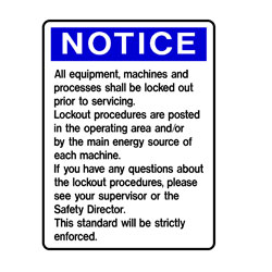 Lock Outs - Notice