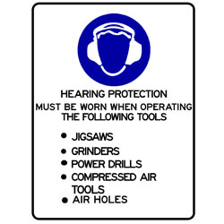 Mandatory - Hearing Protection Must Be Worn When Operating The F