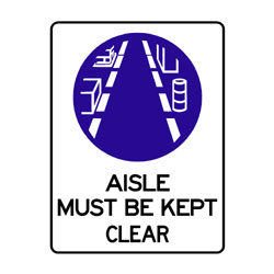 Mandatory Aisle Kept Clear
