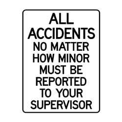 Mandatory Report All Accidents