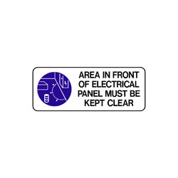 Mandatory - Area In Front Of Electrical Panel Must Be Kept Clear