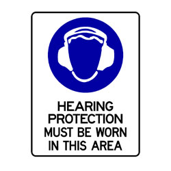 Mandatory - Hearing Protection Must Be Worn In This Area