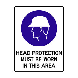 Mandatory - Head Protection Must Be Worn In This Area