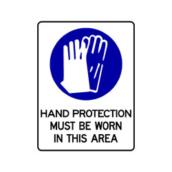 Mandatory - Hand Protection Must Be Worn In This Area