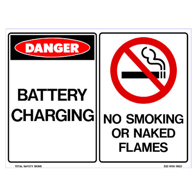 Battery Charging - No Smoking or Naked Flames