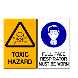 Toxic Hazard - Full Face Respirator Must Be Worn