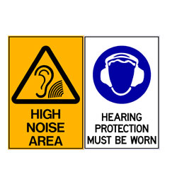 High Noise Area - Hearing Protection Must Be Worn