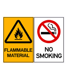 Flammable Material - No Smoking
