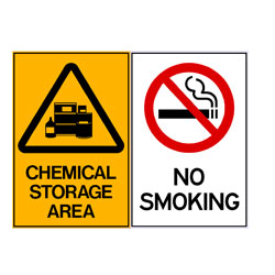 Chemical Storage Area - No Smoking