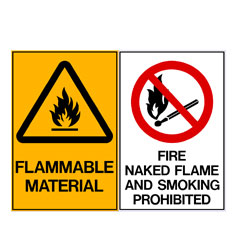 Flammable Material - Fire Naked Flame And Smoking Prohibited