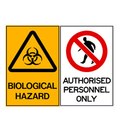 Biological Hazard - Authorised Personnel Only