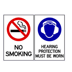 No Smoking - Hearing Protection Must Be Worn