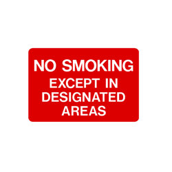 No Smoking - No Smoking Except In Disignated Areas