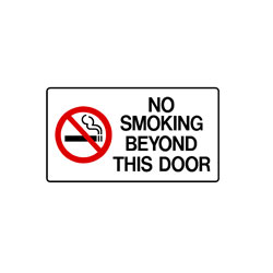 No Smoking - No Smoking Beyond This Door