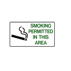 No Smoking - Smoking Permitted In This Area
