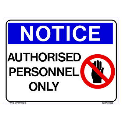 Notice - Authorised Personnel Only (Picto)