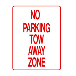 No Parking - No Parking Tow Away Zone