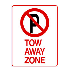No Parking - Tow Away Zone