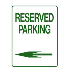 No Parking - Reserved Parking