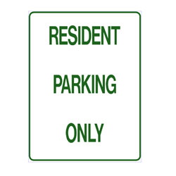 No Parking - Resident Parking Only