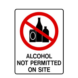 Prohibition Alcohol Not Permitted On Site