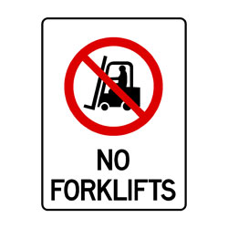 Prohibition No Forklifts