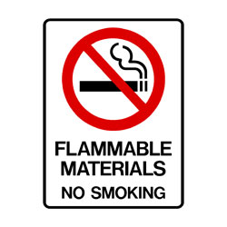 Prohibition Flammable Materials No Smoking