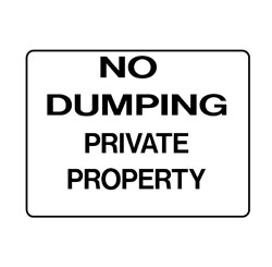 Property - No Dumping Private Property