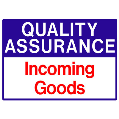 Quality Assurance - Incoming Goods