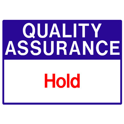 Quality Assurance - Hold