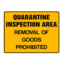 Quarantine Area - Removal Of Goods Prohibited