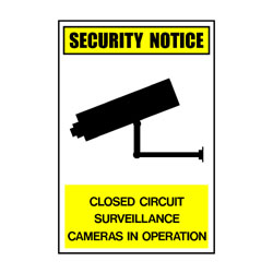 Security Notice Closed Circuit Surveillance Cameras In Operation