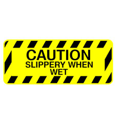 Saftey Stair - Caution Slippery When Wet
