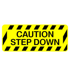 Safety Stairs - Caution Step Down