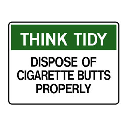 Think Tidy Dispose Of Cigarette Butts Properly