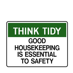 Think Tidy Good Housekeeping Is Essential For Safety