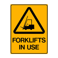 Warning Forklifts In Use