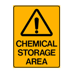 Warning Chemical Storage Area