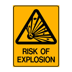 Warning Risk of Explosion