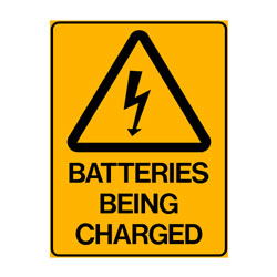Warning Batteries Being Charged