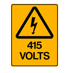 Warning - 415 Volts
