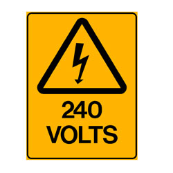 Warning - 240 Volts