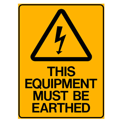 Warning - This Equipment Must Be Earthed