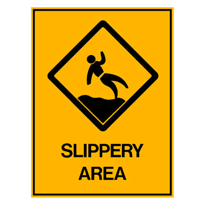 Water Safety - Slippery Area