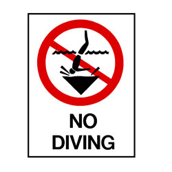 Water Safety - No Diving