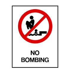 Water Safety - No Bombing
