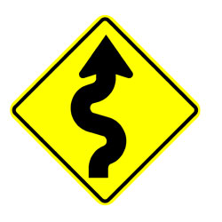 Road - Warning - Double S Curve