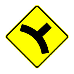 Road - Warning - Curved Intersection