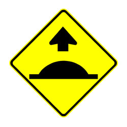 Road - Warning - Road Hump Ahead