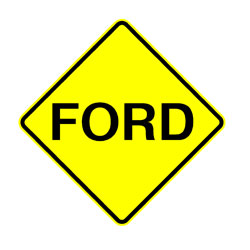 Road - Warning - Ford